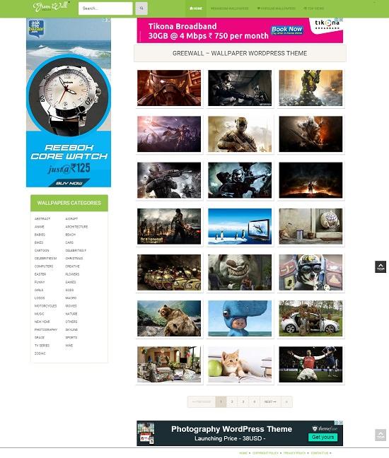 Premium Wallpaper Wordpress Theme V1 - Ebooklancer.com | Digital ...