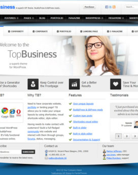 Wordpress Premium Business Themev4
