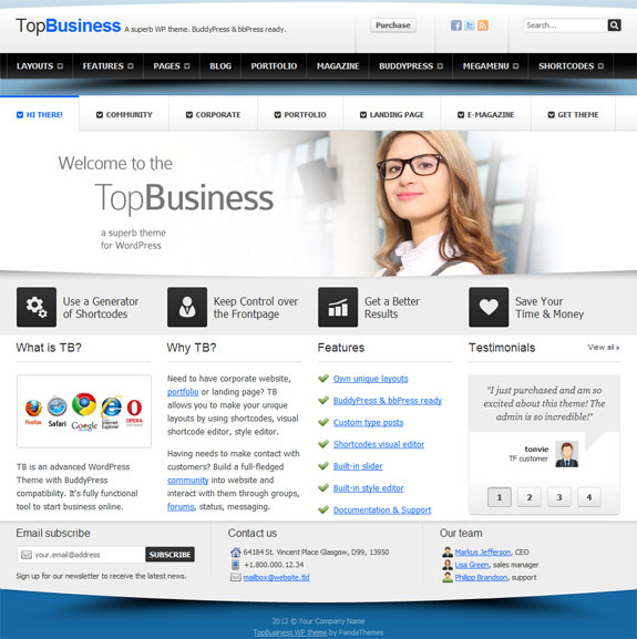 Wordpress premium business theme v4 ebooklancer digital download wordpress premium business themev4 friedricerecipe Image collections