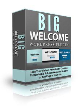 Big Welcome Wordpress Plugin