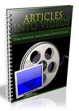 articles into videos - plr
